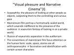 visual pleasure and narrative cinema i