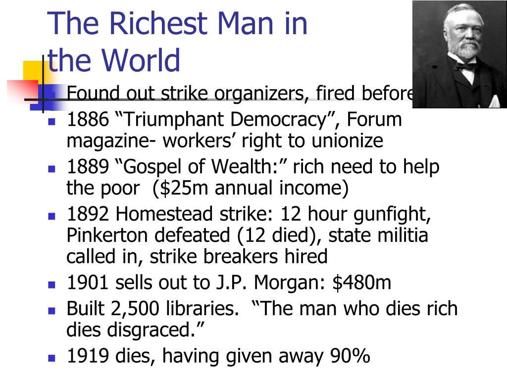 The Richest Man in the World