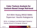 color texture analysis for content based image retrieval