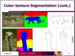 color texture segmentation cont