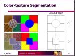 color texture segmentation