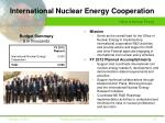 international nuclear energy cooperation