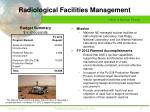 radiological facilities management