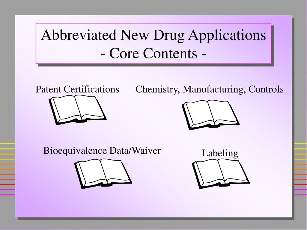 Bioequivalence Data/Waiver