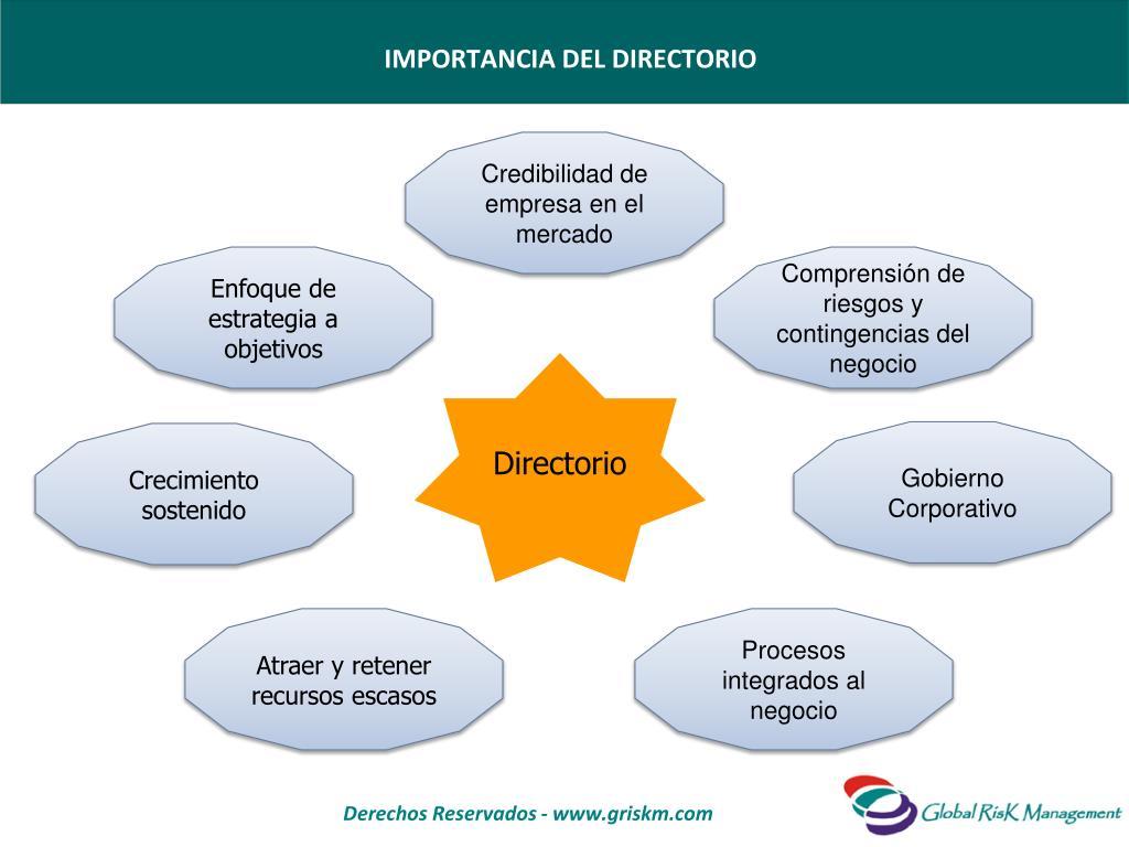 IMPORTANCIA DEL DIRECTORIO