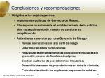 conclusiones y recomendaciones40