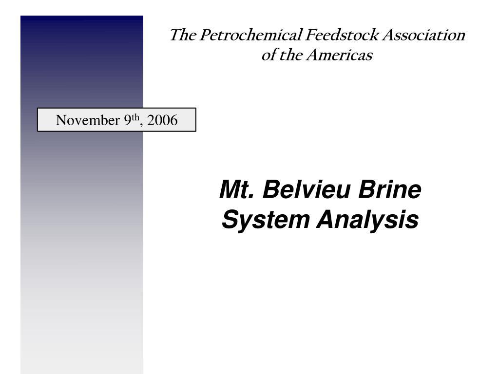 mt belvieu brine system analysis l.
