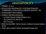 observation n 1