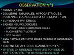observation n 11