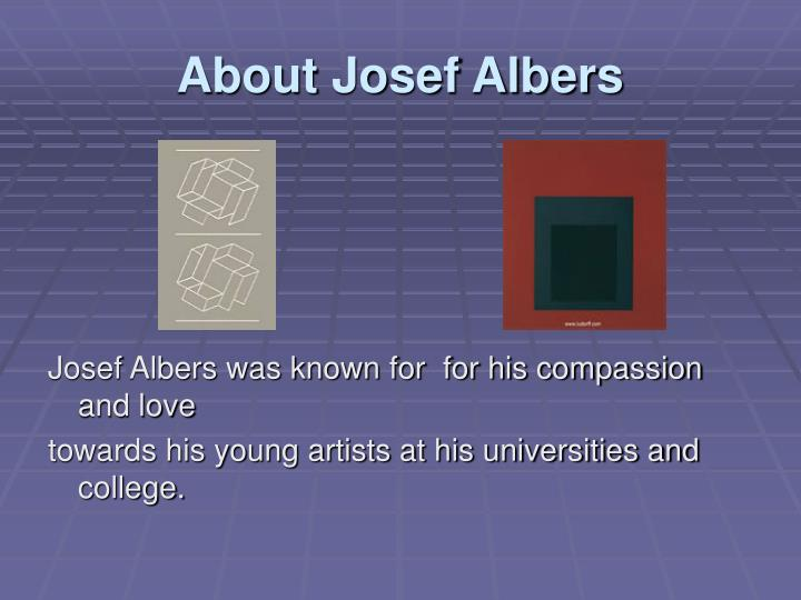 About josef albers