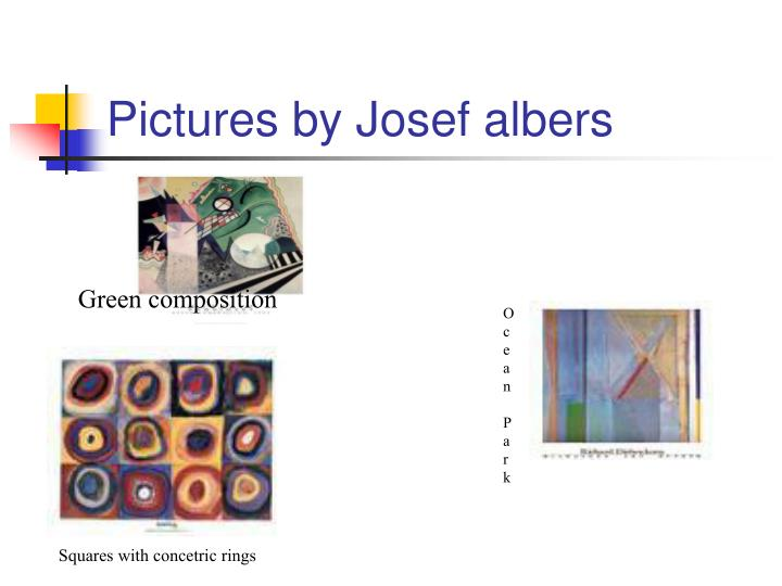 Pictures by Josef albers