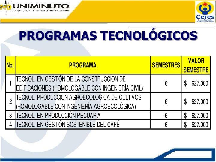 Programas tecnol gicos