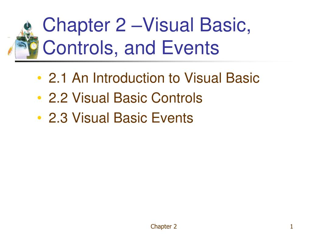 chapter 2 visual basic controls and events l.