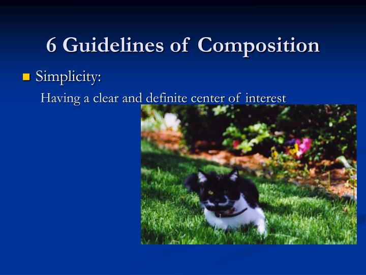 6 guidelines of composition3