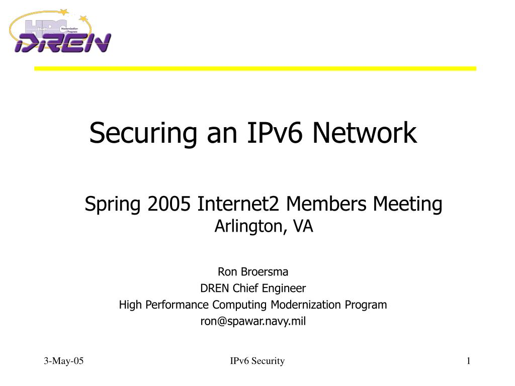 securing an ipv6 network l.