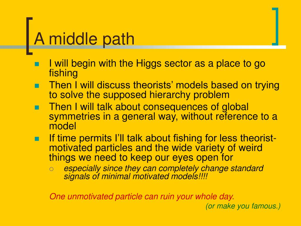 A middle path