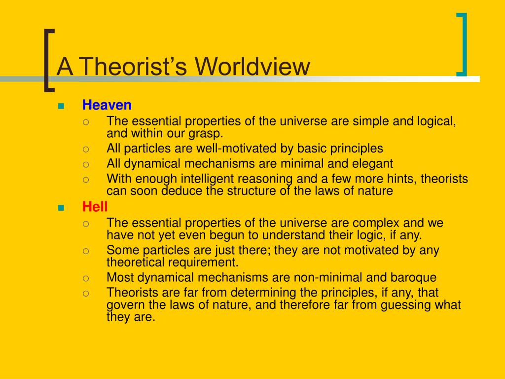 A Theorist's Worldview
