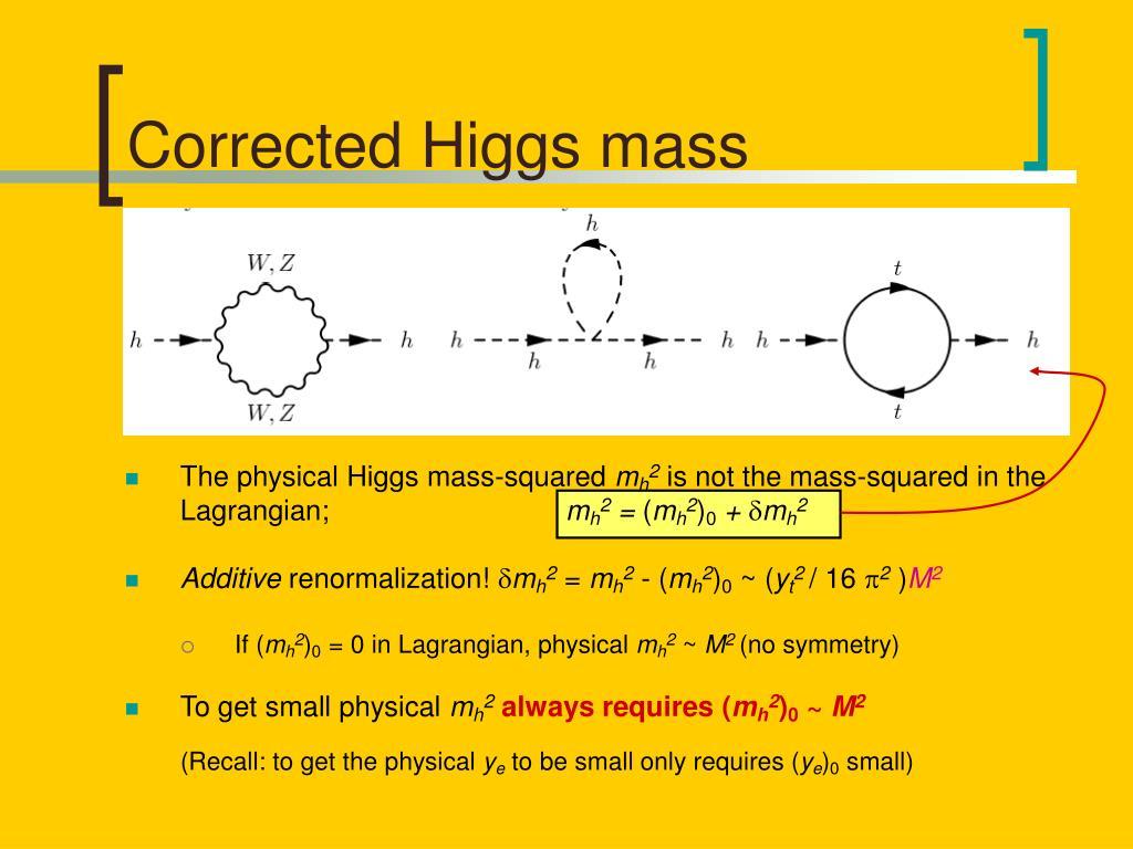 Corrected Higgs mass
