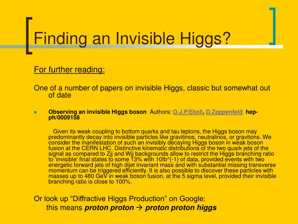 Finding an Invisible Higgs?