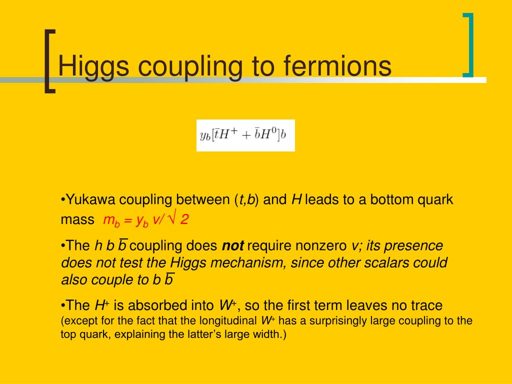 Higgs coupling to fermions