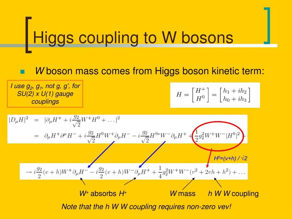 Higgs coupling to W bosons
