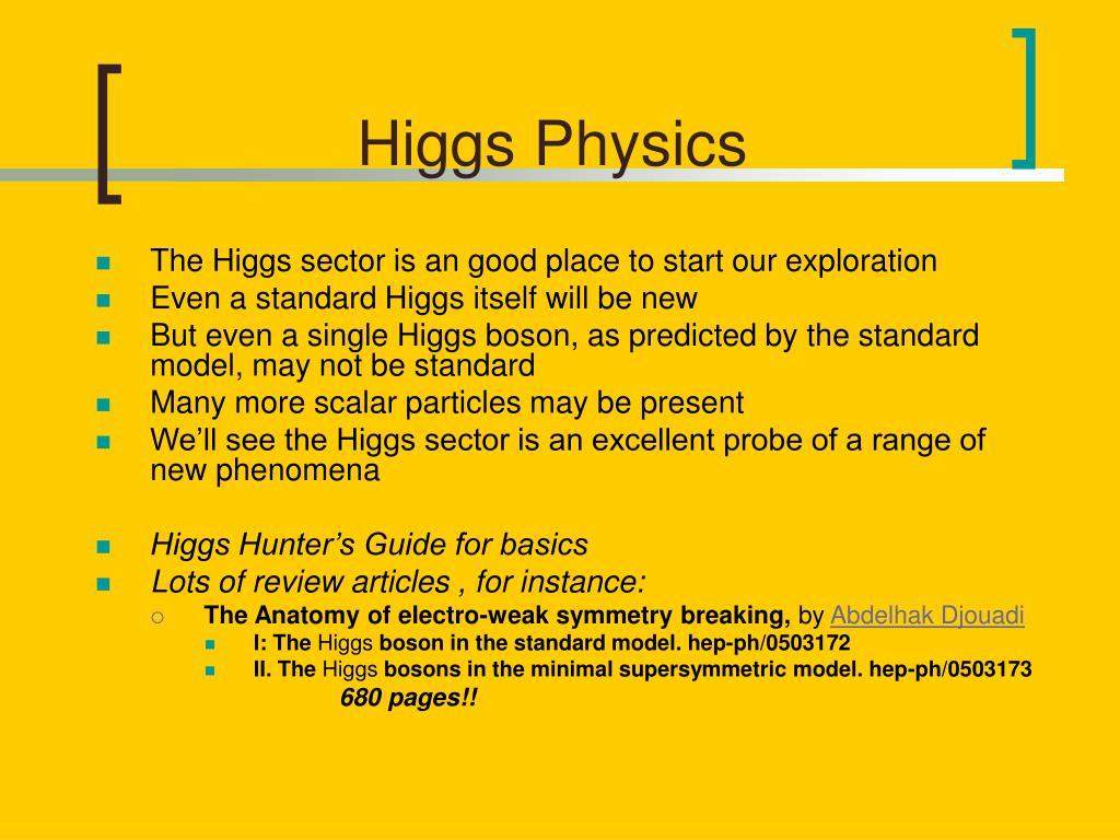Higgs Physics