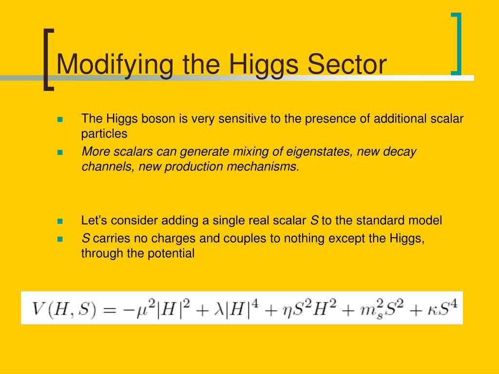 Modifying the Higgs Sector