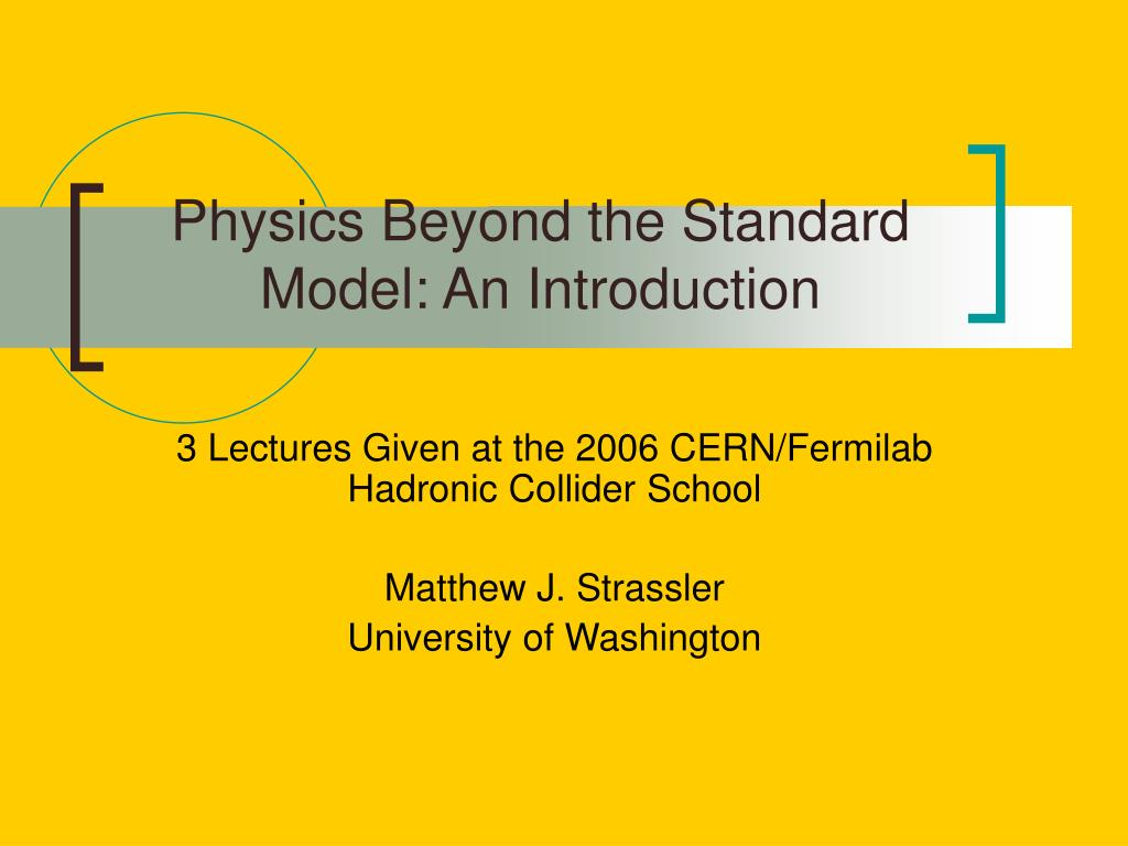 Physics Beyond the Standard Model: An Introduction