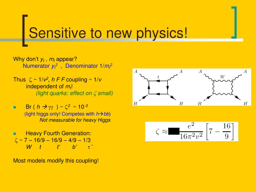 Sensitive to new physics!