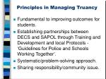 principles in managing truancy