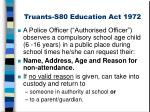 truants s80 education act 1972