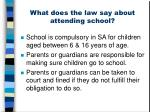 what does the law say about attending school