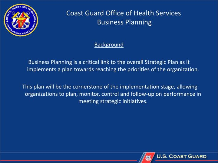 Coast Guard Office of Health Services