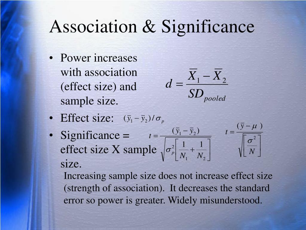 Association & Significance