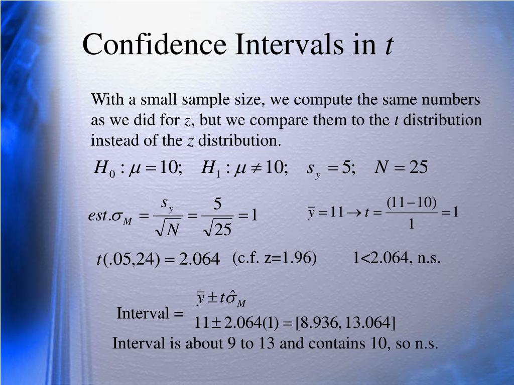 Confidence Intervals in