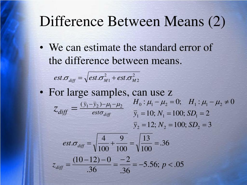 Difference Between Means (2)