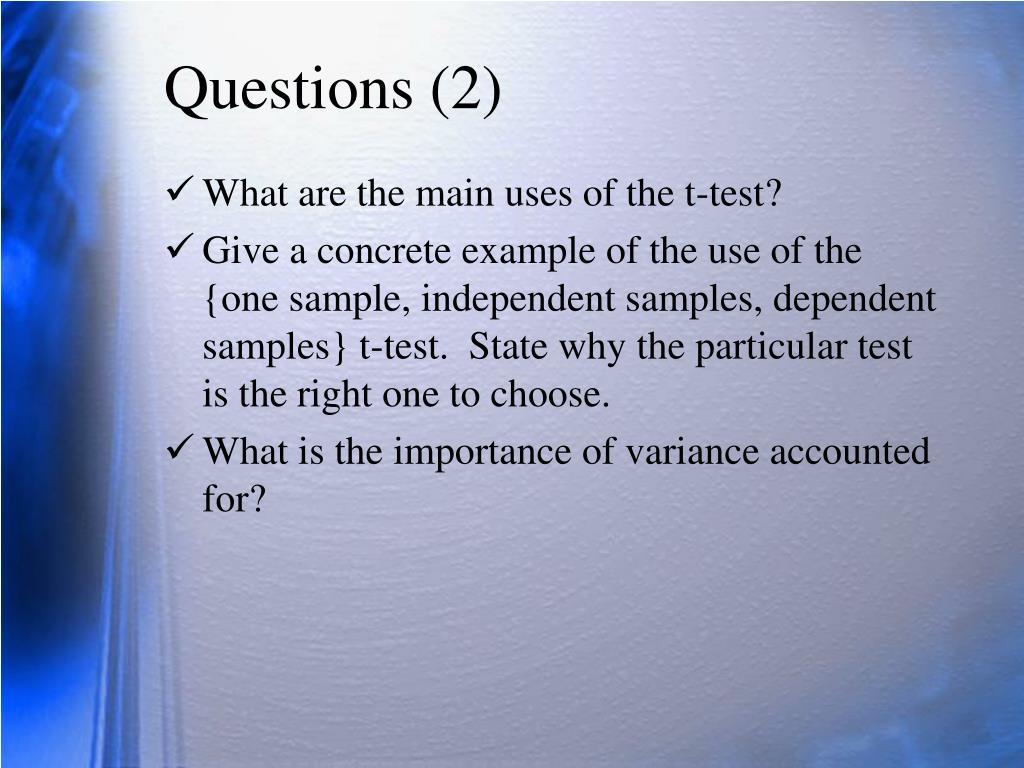 Questions (2)