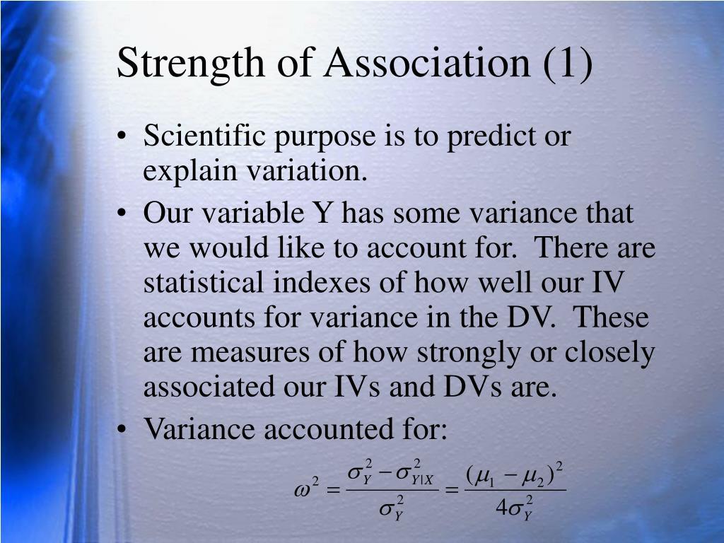 Strength of Association (1)