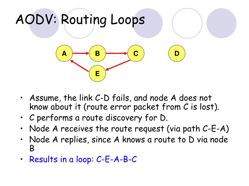AODV: Routing Loops