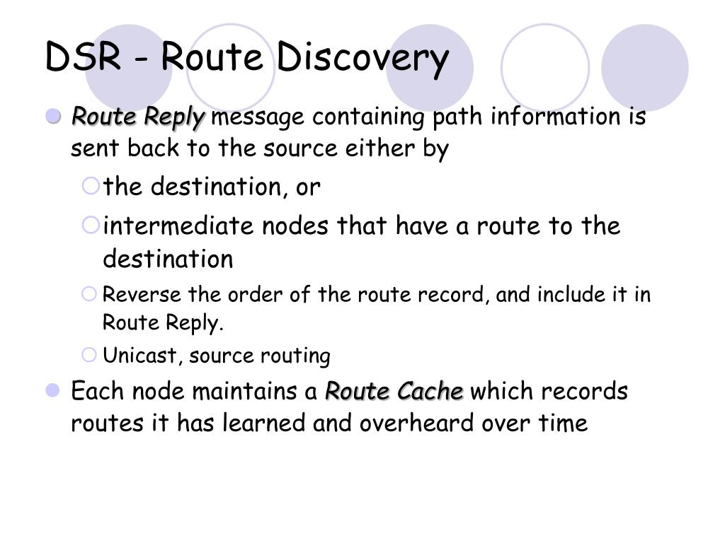 DSR - Route Discovery