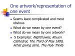one artwork representation of one event