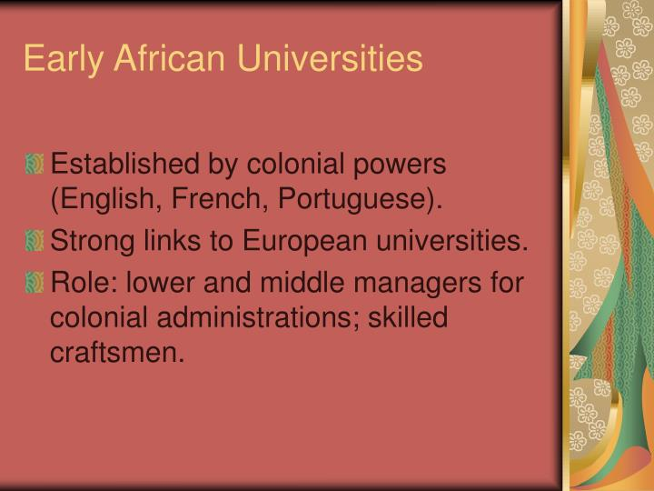 Early african universities