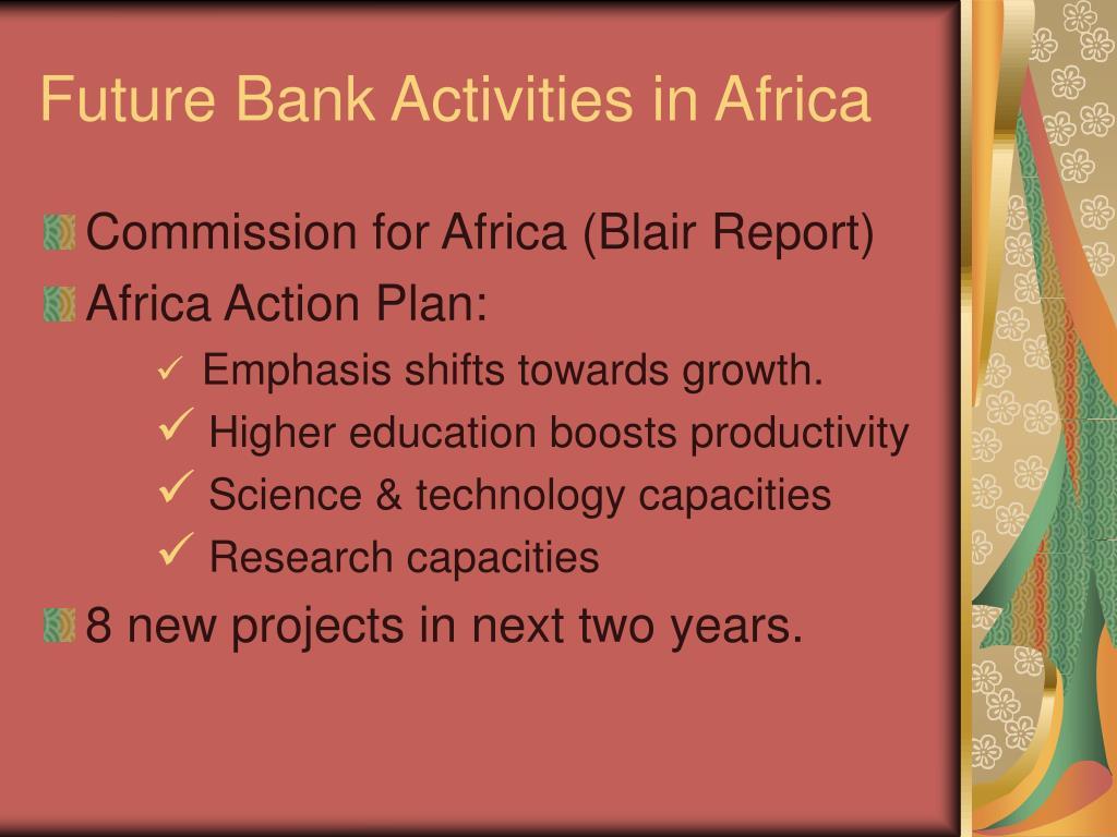 Future Bank Activities in Africa