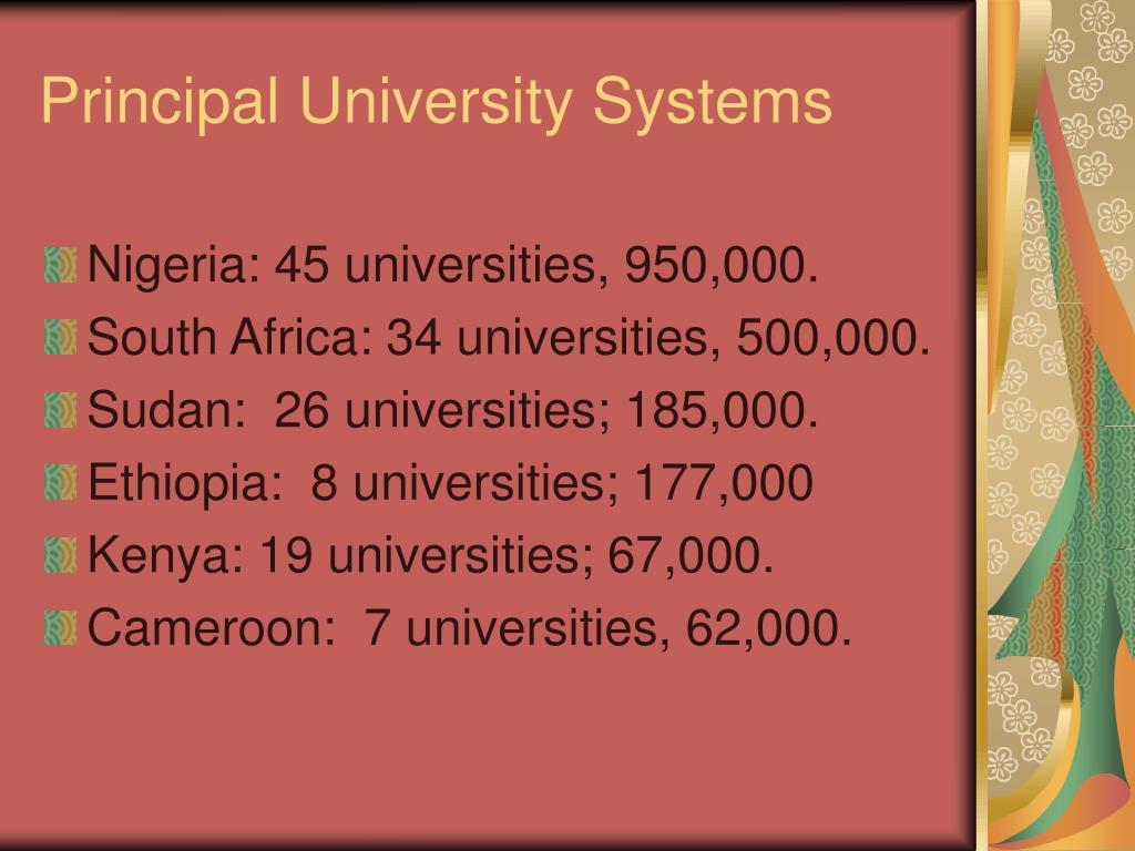 Principal University Systems