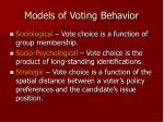 models of voting behavior