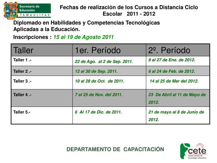Diplomado en Habilidades y Competencias Tecnológicas Aplicadas a la Educación.