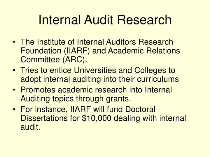 Internal Audit Research