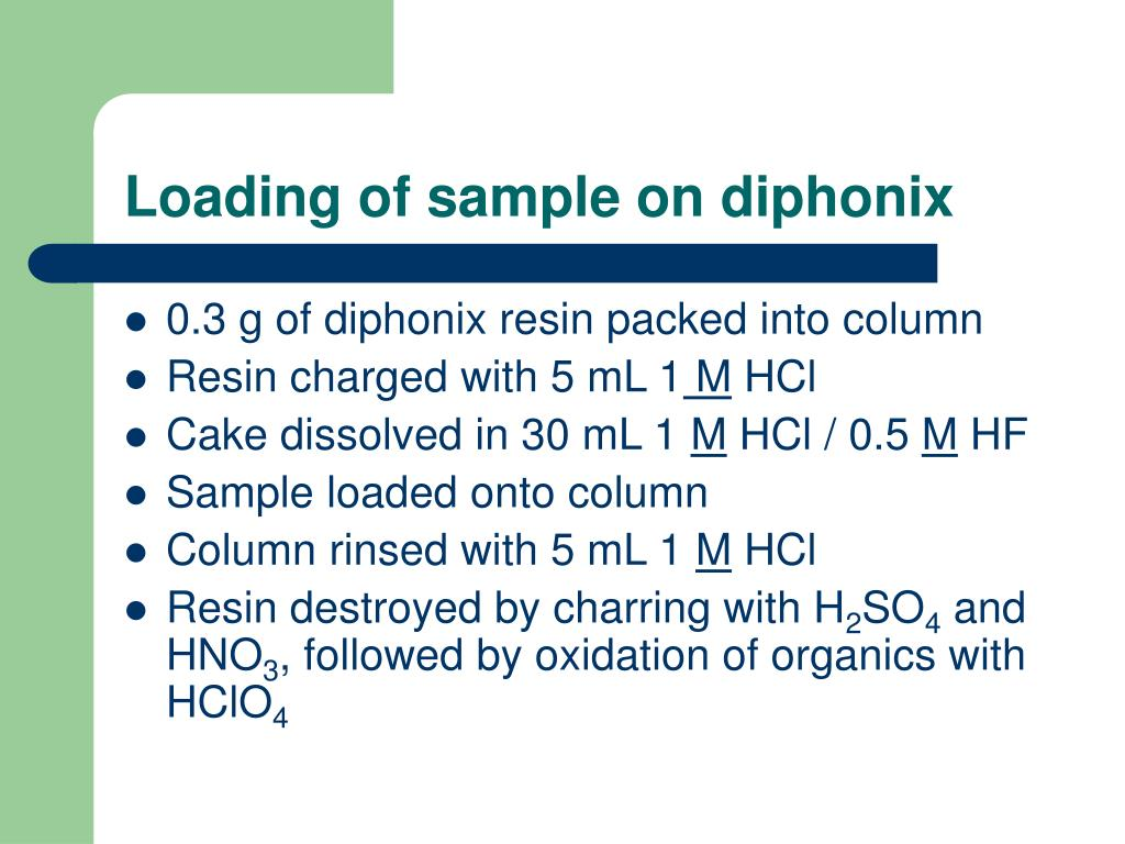 Loading of sample on diphonix