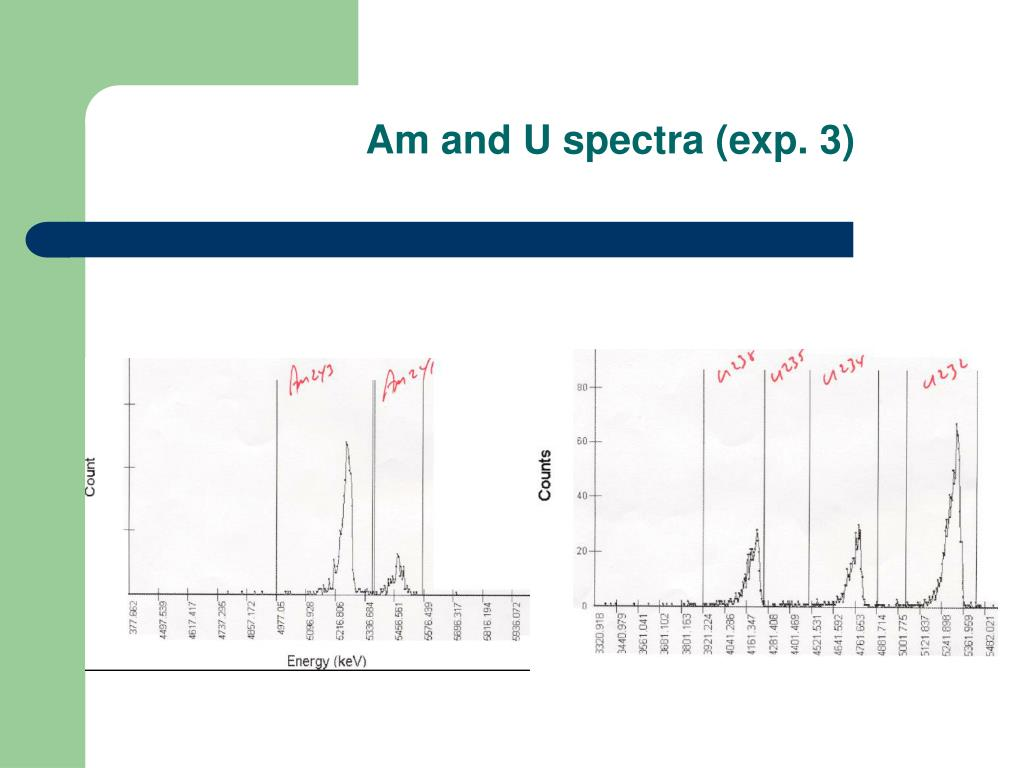Am and U spectra (exp. 3)