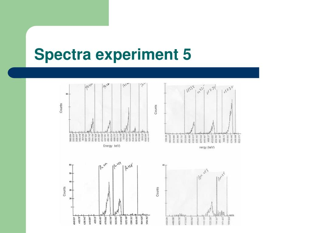 Spectra experiment 5